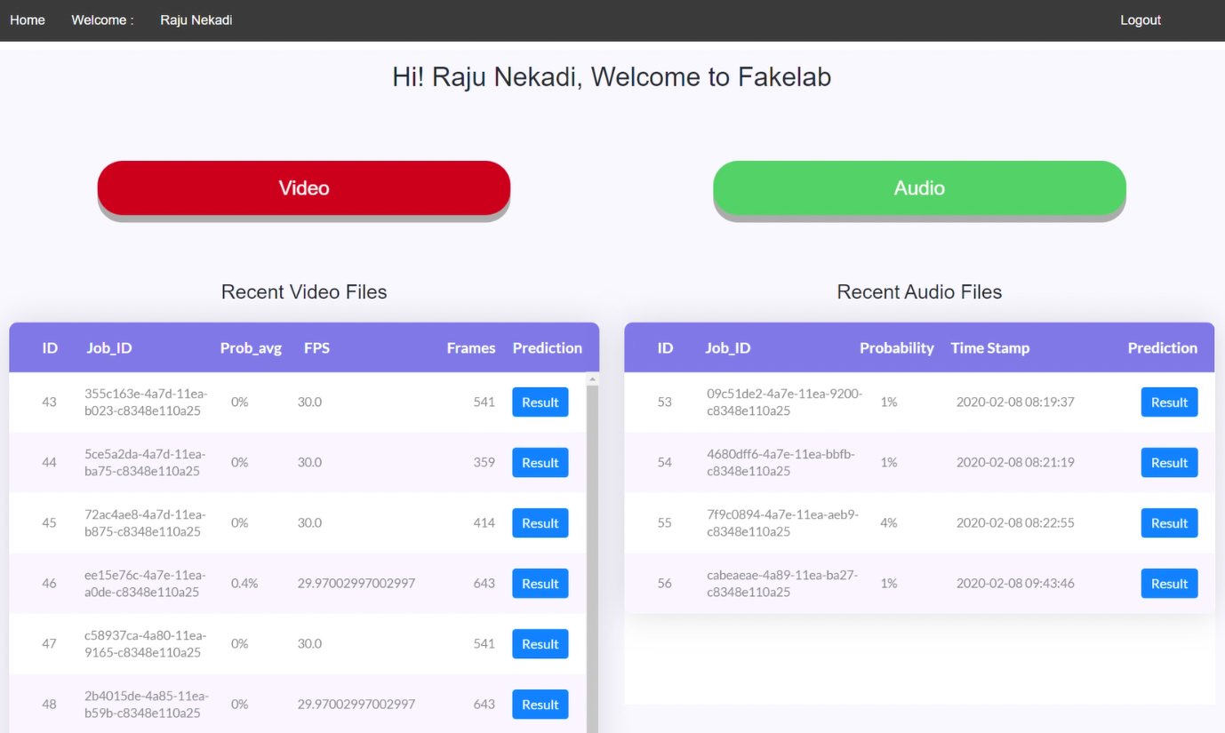 Fakelab – A Deepfake Audio Detection Tool